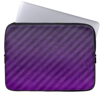 Grungy Dark Purple Stripes Computer Sleeve
