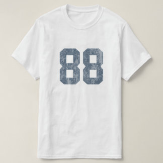 Grungy Faded 88 Blue T-Shirt