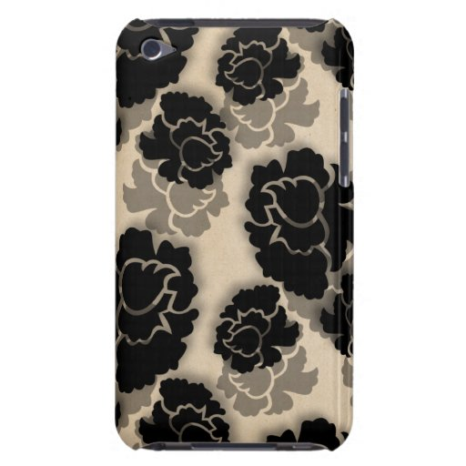 Grungy Floral Decadence BT iPod Case, Ivory iPod Touch Covers