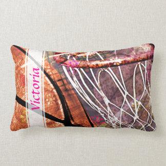 Grungy Girly Basketball Cushions