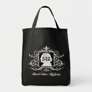 Grungy Graphic Hwy 542 Canvas Bags