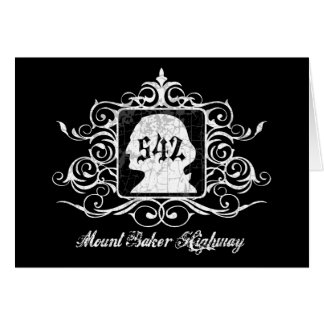 Grungy Graphic Hwy 542 Greeting Card