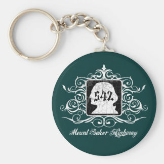 Grungy Graphic Hwy 542 Keychain