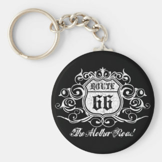 Grungy Graphic Rte. 66 Key Ring