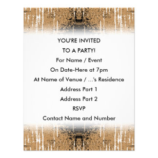 Grungy Look Brown Abstract Personalized Invite