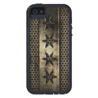 Grungy Metal Chicago Flag iPhone 5 Cover