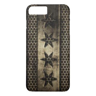 Grungy Metal Chicago Flag iPhone 8 Plus/7 Plus Case