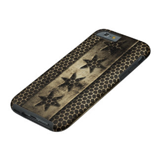 Grungy Metal Chicago Flag Tough iPhone 6 Case