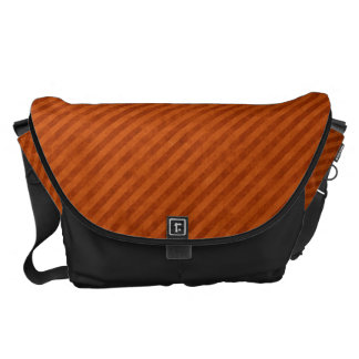 Grungy Orange Pinstripe Pattern Commuter Bag