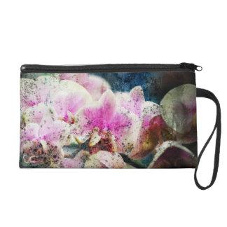 grungy orchid  texture Bagettes Bag Wristlet