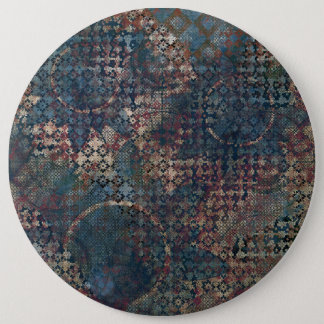Grungy Patterns with Messy Patchwork of Textures 6 Cm Round Badge