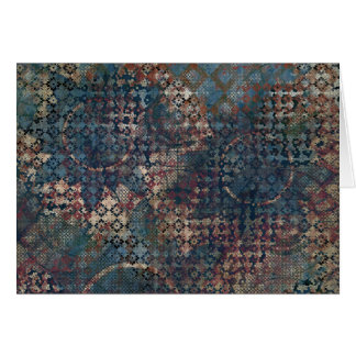 Grungy Patterns with Messy Patchwork of Textures Card