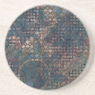 Grungy Patterns with Messy Patchwork of Textures Coaster