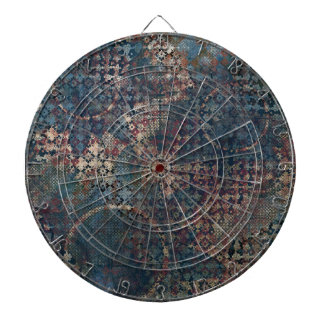 Grungy Patterns with Messy Patchwork of Textures Dartboard