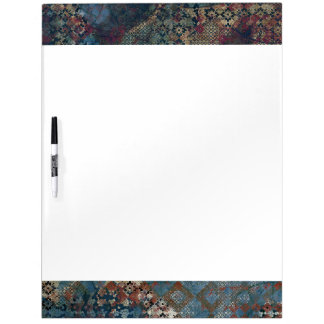 Grungy Patterns with Messy Patchwork of Textures Dry Erase Board