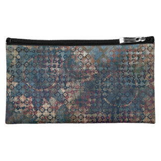 Grungy Patterns with Messy Patchwork of Textures Makeup Bag