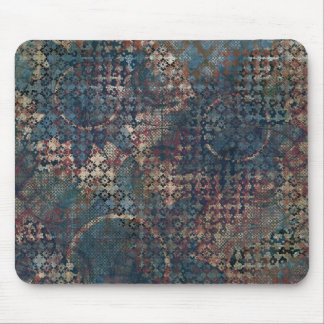 Grungy Patterns with Messy Patchwork of Textures Mouse Pad