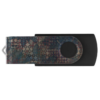 Grungy Patterns with Messy Patchwork of Textures USB Flash Drive
