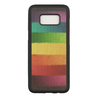 Grungy Rainbow Pattern Carved Samsung Galaxy S8 Case