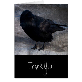 Grungy Raven Card