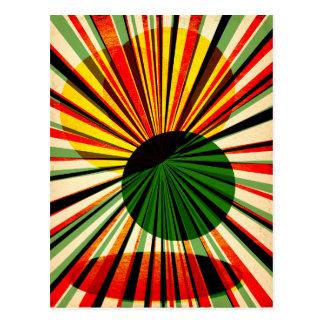 Grungy retro design postcard