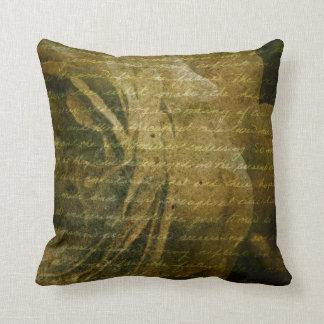 grungy rose texture pillow