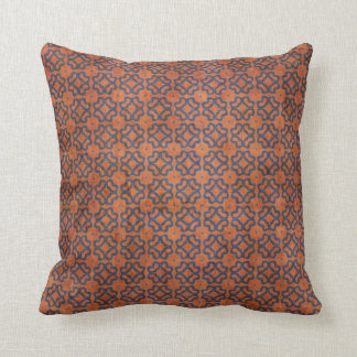 Grungy Rust and Blue Pattern Cushion