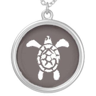 Grungy Sea Turtle Necklace