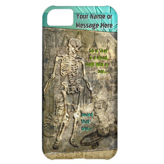Grungy Skeleton Jokes (Personalized iPhone5 case) Case For iPhone 5C