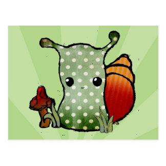 Grungy Snail Postcard