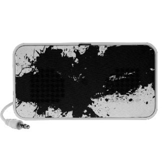 Grungy Splattered Ink Background Portable Speakers