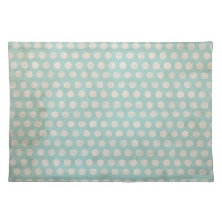 grungy stained teal polka dots place mat