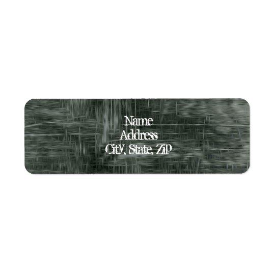 Grungy threadbare fabric return address label