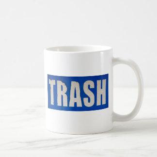 Grungy Trash Sign Basic White Mug