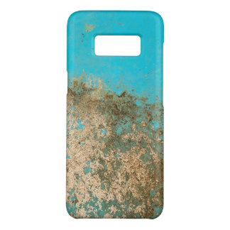 grungy turquoise paint Case-Mate samsung galaxy s8 case