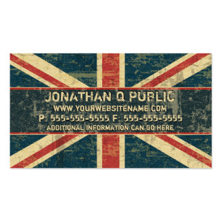 Grungy Union Jack Business Card Templates