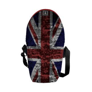 Grungy Union Jack Flag Commuter Bag
