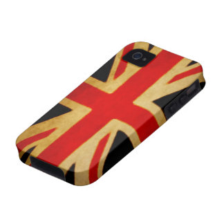 Grungy Union Jack Flag Phone Case Case-Mate iPhone 4 Covers