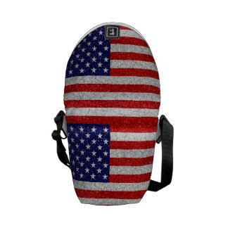 Grungy Usa Flag Messenger Bag