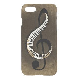 Grungy Vintage Piano Keys Treble Clef iPhone 8/7 Case
