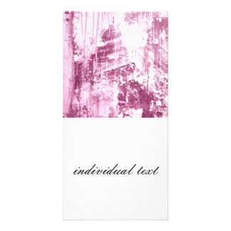 Grungy wall,pink photo greeting card