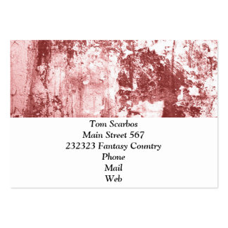 Grungy wall,rusty red business card template