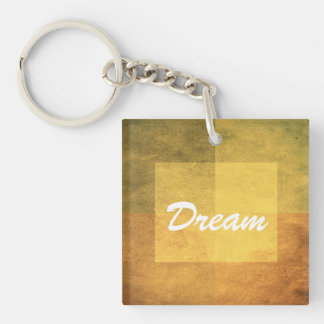 grungy watercolor-like graphic abstract 2 Double-Sided square acrylic key ring