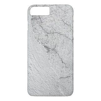 Grungy white stucco wall background iPhone 7 plus case