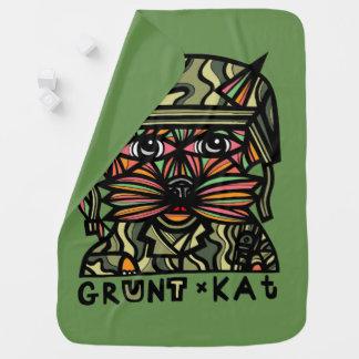 """""""Grunt Kat"""" Baby Blanket"""