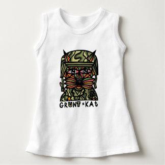 """Grunt Kat"" Baby Sleeveless Dress"