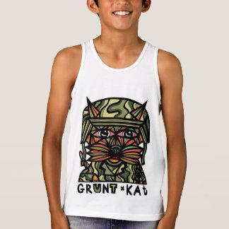 """Grunt Kat"" Boys' Tank Top"