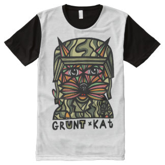 Grunt Kat BuddaKats All- Over Printed Shirt