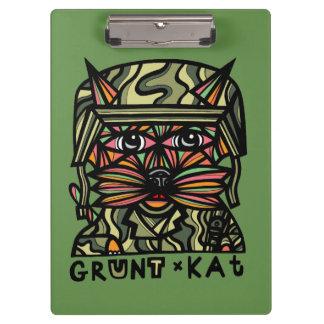 """Grunt Kat"" Clipboard"
