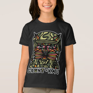 """Grunt Kat"" Girls' American Apparel T-Shirt"